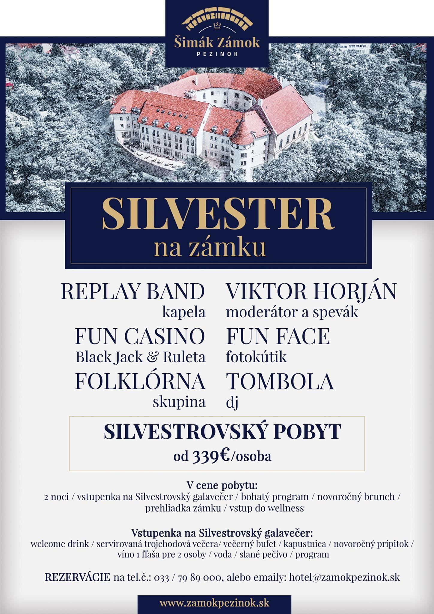 Silvestrovský pobyt na zámku Šimák Pezinok